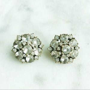 J.CREW Diamond Cluster Statement Earrings